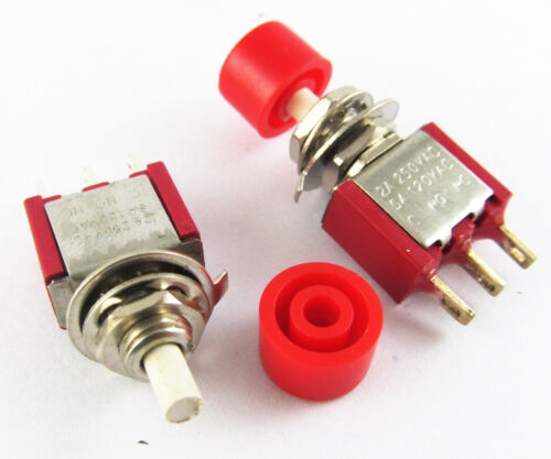 10x Red Momentary SPDT Push Button Normal Open//Close Switch 3Pin 2A 250V//5A 120V