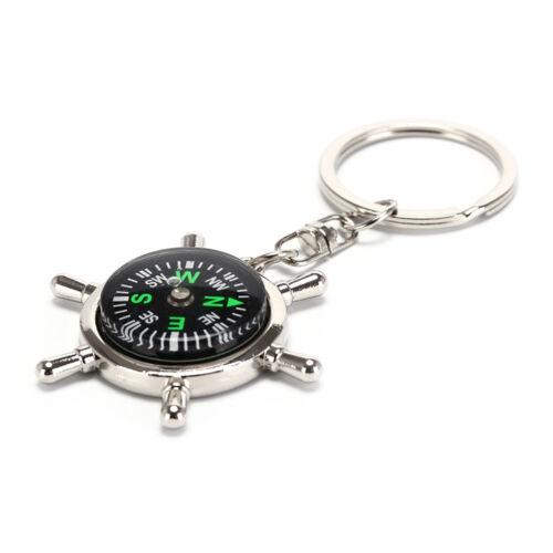 Compass Rudder Key Chain Glossy Alloy Keychain Keyrings Gifts STPD LDUK SPUKVX