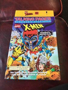 Talking-Pages-Electronic-Storybook-X-men-Magnetos-Master-Plan-1995-Marvel