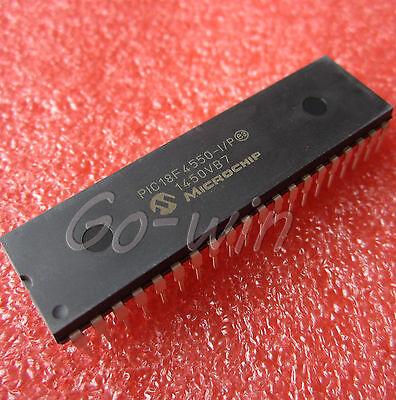 2PCS IC  PIC18F4550 MICROCHIP DIP-40 NEW PIC18F4550-I/P