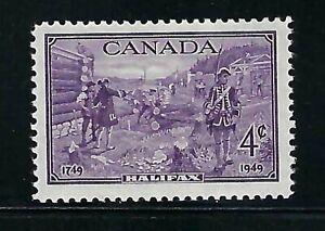 CANADA - SCOTT 283 - VFNH - HALIFAX BICENTANERY - 1949