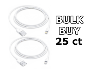NEW Genuine Apple iPhone Lightning to USB Cables - OEM Charger BULK (25ct)