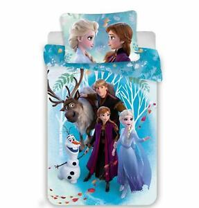 Eiskoenigin-Frozen-Anna-Elsa-Olaf-Baby-Bettwaesche-40-x-60-cm-100-x-135-cm
