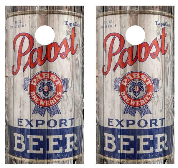 1935 Pabst Export Beer Can Cornhole Board Wraps FREE APP SQUEEGEE