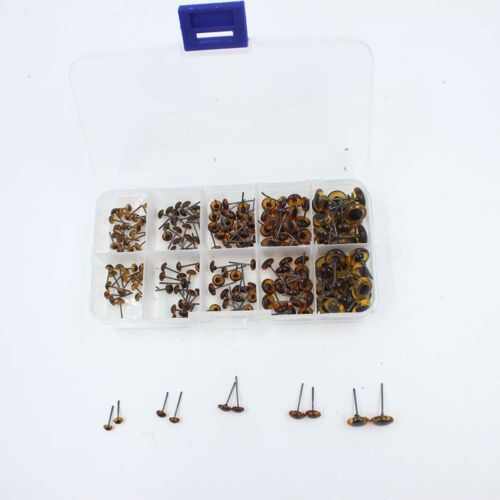 100 Pairs Glass Eyes Kits 4//5//6//7//10mm All in One Box for Teddy Bears Dolls Eyes