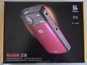 kodak zi8 pocket video camera black nearly new in original package rh ebay com Kodak Zi8 Camcorder Charger Pocket Kodak Zi6