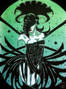 Details About Goth Voodoo Priestess In Corset Comic Fantasy Art Ebsq 8x10