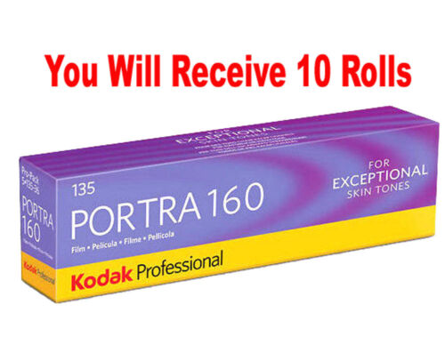 10 Rolls Kodak Portra 160 35mm Film 135-36 ISO 160 Color Negative FRESH 07//2020