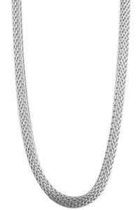 3mm geflochtene Edelstahl Halskette Schlangenkette Edel Fein 70cm Damen Kette