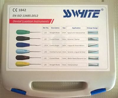 SSWhite Dental Luxation Instruments set of 6