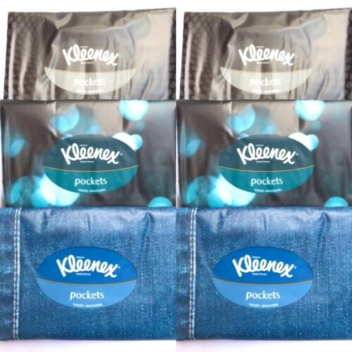 48 Individual Kleenex Pockets Tissues  6x4ply Paper Tissues Per Pack