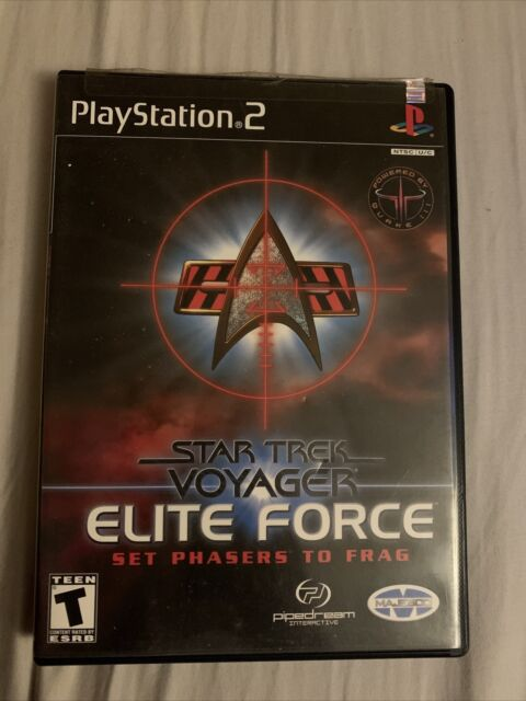 Star Trek: Voyager -- Elite Force (Sony PlayStation 2, 2001) Near Perfect
