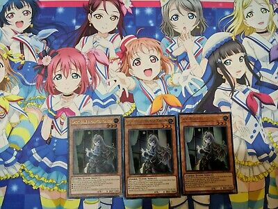 DUDE-EN004 1st Ultra Rare X3 PLAYSET Ghost Belle /& Haunted Mansion Yu-Gi-Oh