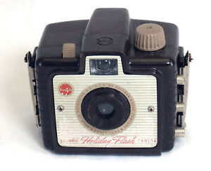 Eastman Kodak Brownie Holiday Flash Vintage Film Camera Kodet Lens Usa Ebay