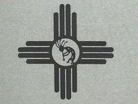 Large 24 Southwest Zia Sun With Kokopelli Wood Wall Art Decor