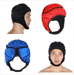 6823 Men Sport Goalkeeper Adjustable Soccer Goalie Helmet Head Protector Support