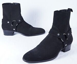 Image is loading SAINT-LAURENT-Wyatt-Harness-Boot-Mens-44EU-11US 89b1508745ef