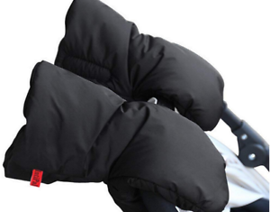 Extra Thick Stroller Hand Muff Winter Waterproof Anti-freeze Gloves for Parents