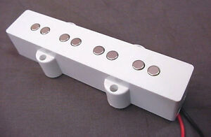 Jazz Bass Pickup Pole Height : white pickup for 4 string jazz bass guitar double poles ebay ~ Hamham.info Haus und Dekorationen