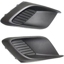 Fog Light Cover Bumper Insert Pair Set 2014-2016 Mazda 3 BHN150C21A BHN150C11A