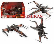 Disney Store Star Wars Poe's  X-Wing Fighter Black Die Cast Vehicle 2015 NEW
