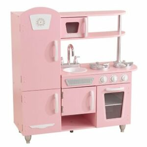 Image Is Loading Kidkraft Vintage Play Kitchen Pink W