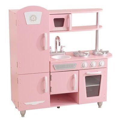 kidkraft vintage play kitchen - pink w 706943533475 | ebay