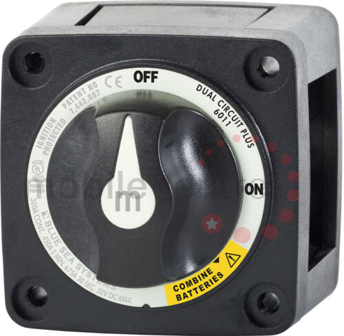 Blue Sea Systems 6011200 dual circuit battery switch black 300a