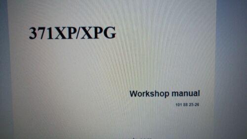 Husqvarna Chainsaw Model 371XP XPG  Factory Workshop Manual