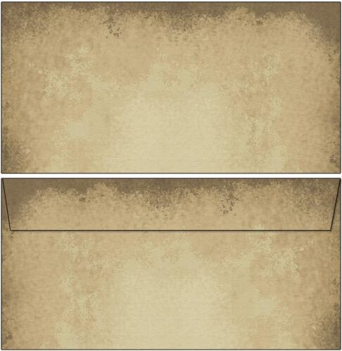 altes Papier antik rustikal Set Motivpapier Briefpapier 50 Blatt A4+50 Kuverts