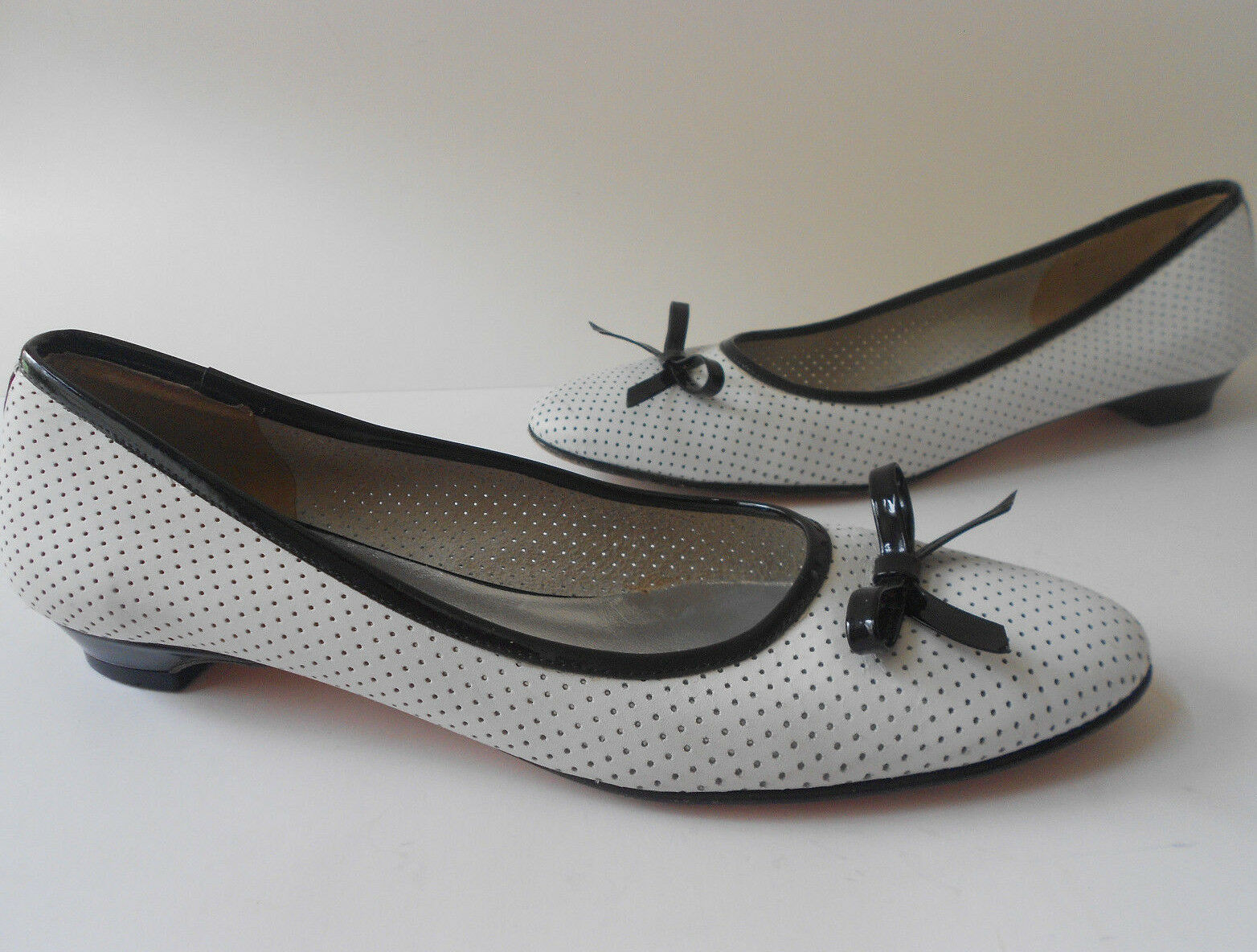 CALIGARIUS SPECTATOR US LEATHER BALLET FLATS SIZE US SPECTATOR 7 EUR 37 RARE MADE IN ITALY 6eea8c