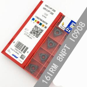 ISCAR-16IRM-8NPT-IC908-Threaded-blade-Carbide-Inserts-10Pcs