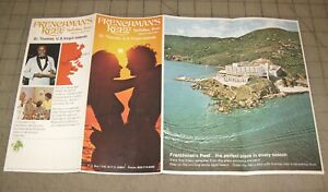 Vintage-1970s-FRENCHMEN-039-S-REEF-St-Thomas-VI-Holiday-Inn-Fold-Out-Brochure