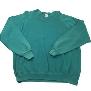 3XL 90/'s Jerzees men/'s sweatshirt green vintage crew neck crewneck 1990/'s plain blank XXXL