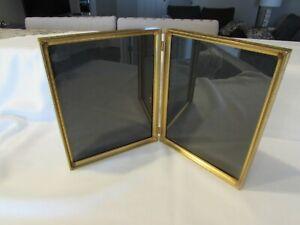 Vintage Frame Brass Frame Gold Picture Frame 8x10 Frame Brass Frame Wedding Frame Old Frames Antique Frame Double Frame Photo Bi Fold Frame
