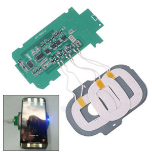 DIY-3-coils-Qi-wireless-charger-PCBA-circuit-board-5V-2A-Qi-wireless-charging-DP
