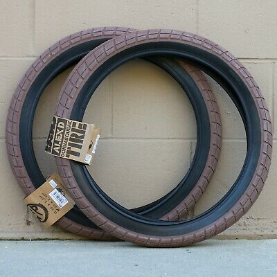 """PAIR OF ECLAT BMX MORROW BICYCLE TIRES 20x2.40/"""" BLACK FOREST GREEN TY MORROW"""