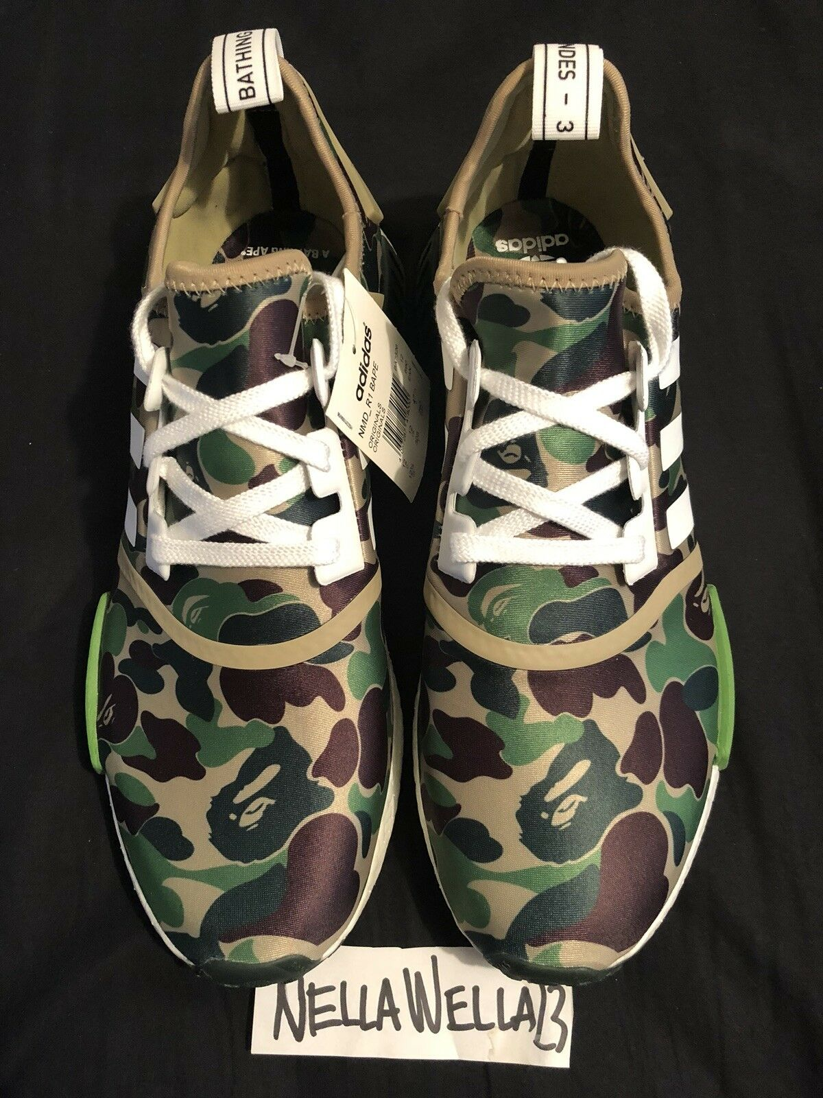 Adidas NMD R1 BAPE Green Camo size 12.5 BRAND NEW 100% Authentic
