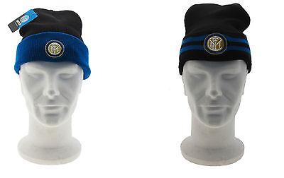 Berretta Inter Internazionale Nera  Stadio Originale Papalina pesante pile