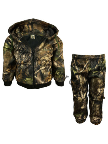 Kids Real Tree Camo Waterproof Hunting Tracksuit Camouflage Hoodie Bottom Suit