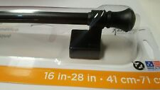 "Black Magnetic Cafe Curtain/Towel Rod!!! 16-28""!!"