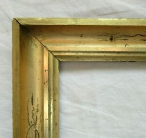 ANTIQUE-Fits-8-034-x-10-034-LEMON-GOLD-GILT-STENCILED-FRAME-FINE-ART-VICTORIAN