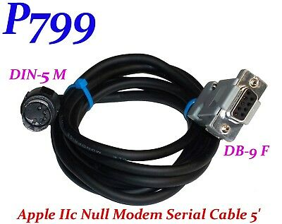 Cable Apple IIc modem new DIN5 D-SUB 25 ////c