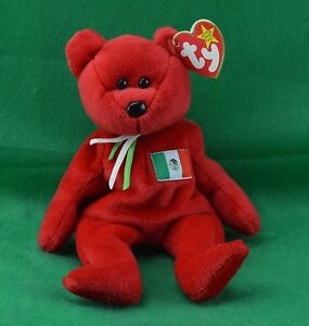 660d77cd399 Osito TY Beanie Baby Red Mexico Mexican Flag Teddy Bear MWMT ...