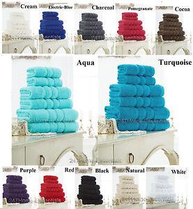 Zero-Twist-100-Cotton-Towels-Large-Bale-Set-Hand-Bath-Towel-Sheet-600-GSM