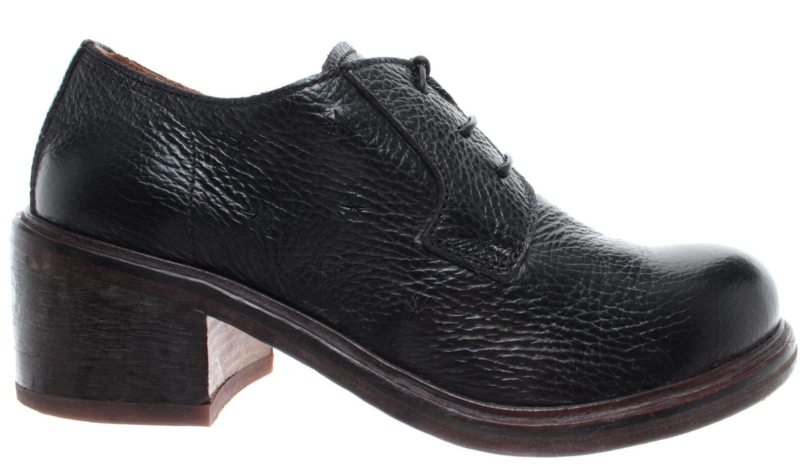 MOMA 40801-Y1 Vitello negro negro negro Zapatos Mujer Negro Cuir Hand Made In  Nueve New 4c2d3e