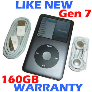 Apple-IPOD-CLASSIC-7th-Generation-7G-160GB-Grey-Refurbished-New-HDD