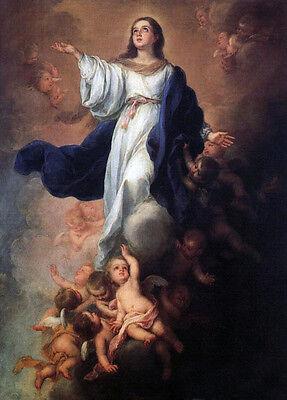 Nice Oil Bartolome Esteban Murillo - The Assumption of the Virgin Madonna Child