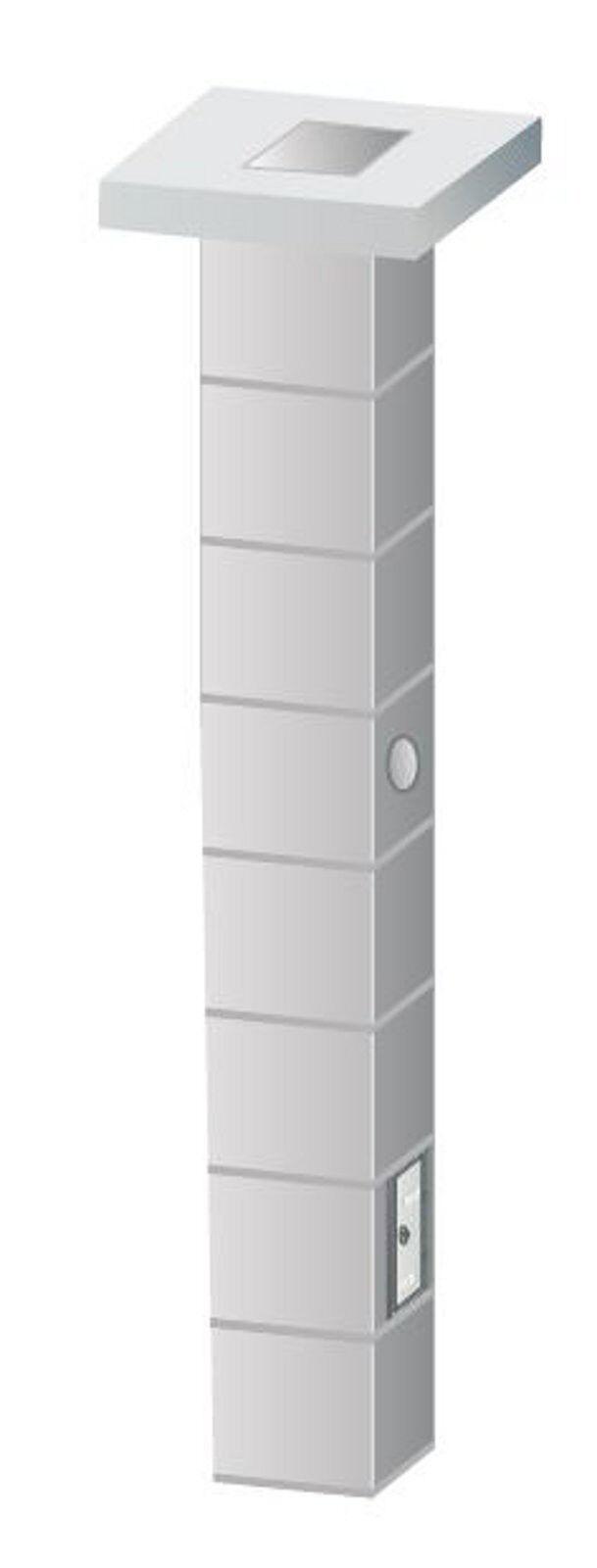 Schornstein Bausatz  Kamin einzügig Massiv 20x20 cm 6 m Kaminrohr Esse