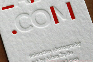 Letterpress embossed business cards on 1 mm thick cotton paper ebay image is loading letterpress embossed business cards on 1 mm thick colourmoves